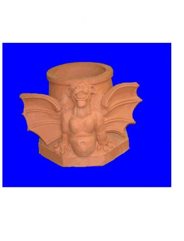 Click for a Large Photo of Chimney Pot - Gargoyle