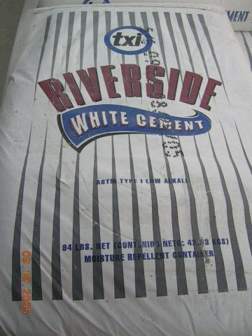 Click for a Large Photo of Riverside White Cement