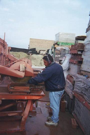 Click for a Large Photo of Brick, Tile or Stone Cutting