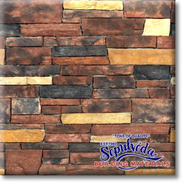 Country Ledgestone Red Rock From Sepulveda Building
