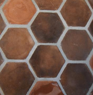 Click for a Large Photo of Hexagon Cotto Blend 8\
