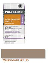 Polyblend 174 Non Sanded Grout Mushroom 135 From Sepulveda