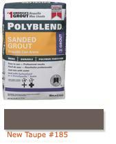 Click for a Large Photo of Polyblend® Sanded Grout - New Taupe #185