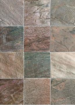Click For A Large Photo Of Antique Copper Honed And Polished Slate 12 X12