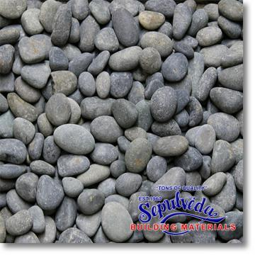 "Click for a Large Photo of Black Mexican Beach Pebbles 1/2""-1"""