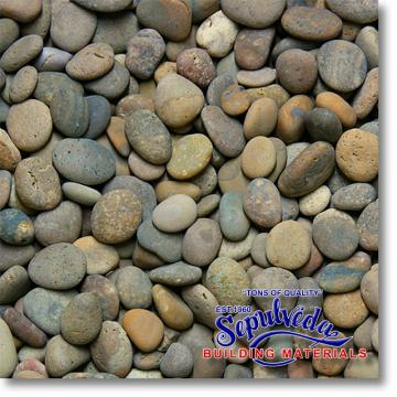"Click for a Large Photo of Mixed Mexican Beach Pebbles 1/2""-1"""