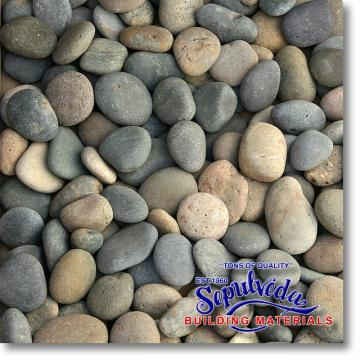 "Click for a Large Photo of Mixed Mexican Beach Pebbles 1""-2"""