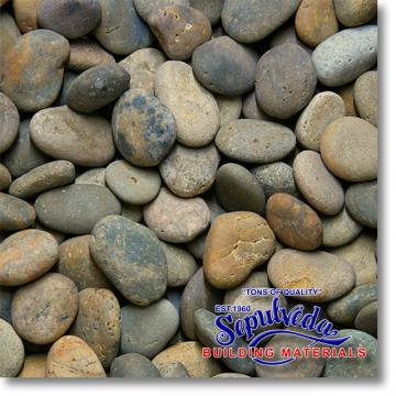 "Click for a Large Photo of Mixed Mexican Beach Pebbles 2""-3"""