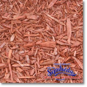 Click for a Large Photo of Designer Wood Chips - Red