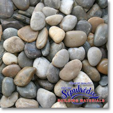"Click for a Large Photo of Mixed Polished Pebble 2"" to 3"" size"