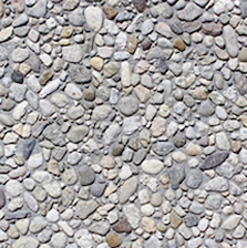"Click for a Large Photo of Stepping Stone - 12"" x 12"" Exposed Aggregate French Gray"
