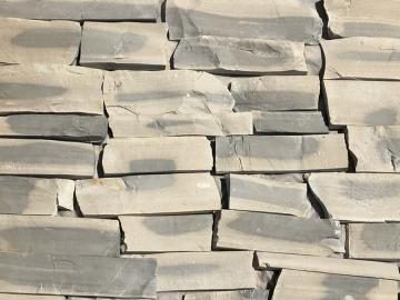 Click for a Large Photo of Lompoc Gray Blend Ashlar Strip Thin Veneer