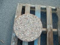 """Small photo of Natural Exposed Aggregate Round Stepping Stone 12"""""""