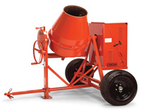 Small photo of Canoga Concrete Mixer - 1/2 Sack - 4HP Gas Honda Engine