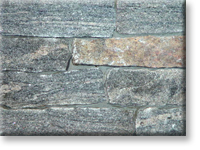 "Small photo of Dark Crystal Granite 4"" Ashlar Strip"