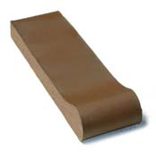 "Small photo of 12"" Brown Flashed Safety Grip Bull Nose"