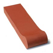 "Small photo of 12"" Sunset Red Safety Grip Bull Nose"