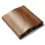 "Small photo of 8"" Medium Iron Spot Capella Wall Cap"