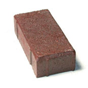 "Small photo of 2-1/2"" Bear Path Paver Medium Iron Spot"