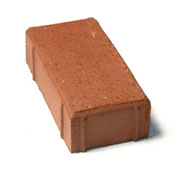 "Small photo of 2-1/2"" Bear Path Paver Red Flash"