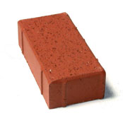 "Small photo of 2-1/2"" Bear Path Paver Sunset Red"