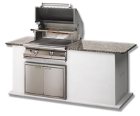 "Small photo of 27"" Newport Masonry Grill & Rotisserie"