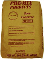 Small photo of Pre-Mix Products Spec Concrete 3000 Mix
