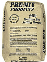 Small photo of Pre-mix Products Medium Bed Setting Mortar Gray