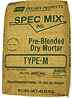 Small photo of Pre-Mix Products Type-M Spec Mix Masonry Mortar Gray