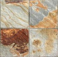 "Small photo of Ivory Dove Natural Cleft Slate 12""x12"""