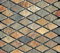 Small photo of Ming Valley Tumbled Slate Diamond on Mesh