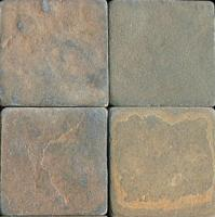 "Small photo of Polo Field Tumbled 6""x6"""