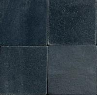 "Small photo of Raven Black Tumbled Slate 8""x8"""