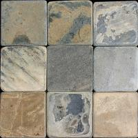 "Small photo of Sunjani Tumbled Slate 6""x6"""