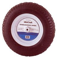 Small photo of Wheelbarrow Wheels - 480/400X8 Knobby Wheelbarrow Wheel