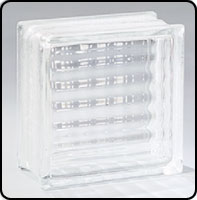 """Small photo of Pittsburgh Corning Premiere Series Argus 6"""" x 6"""" Glass Block"""