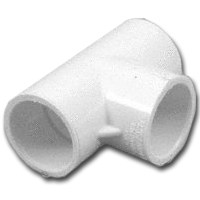 "Small photo of PVC Fittings - 1/2"" PVC SXS Tee"