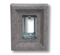 Small photo of Light Fixture Single Receptacle Stone Gray