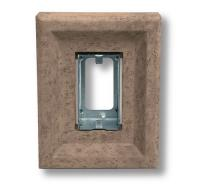 Small photo of Light Fixture Single Receptacle Stone Taupe
