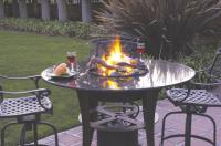 "Small photo of 40"" High Table Top Campfyre Set"