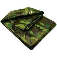 Small photo of Poly Tarpaulins - 12 x 16 Feet Camouflage Tarp