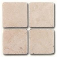 "Small photo of Crema Marfil 4""x4"" Tumbled"