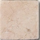 "Small photo of Crema Marfil 6""x6"" Tumbled"