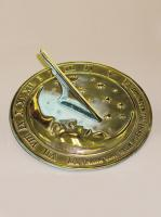 Small photo of Brass Moon & Stars Sundial
