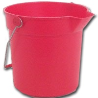 Small photo of Farm Bucket - 10 Qt Round Red Bucket