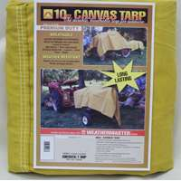 Small photo of Canvas Tarpaulins - 8X10 10OZ Canvas Tarp