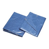 Small photo of Storage Cover Tarps - 8X10 Blue Poly Tarp