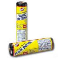 Small photo of Polyethylene Sheeting - 10X25 Foot 4 Mil Black Poly Film