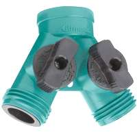 Small photo of Garden Hose Conectors - Nylon Y Conector With Shut Off
