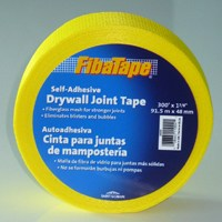 "Small photo of Fiberglass Drywall Joint Tape - 1.9""X300 Yellow Drywall Tape"